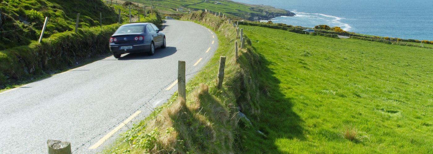 car driving opposite side