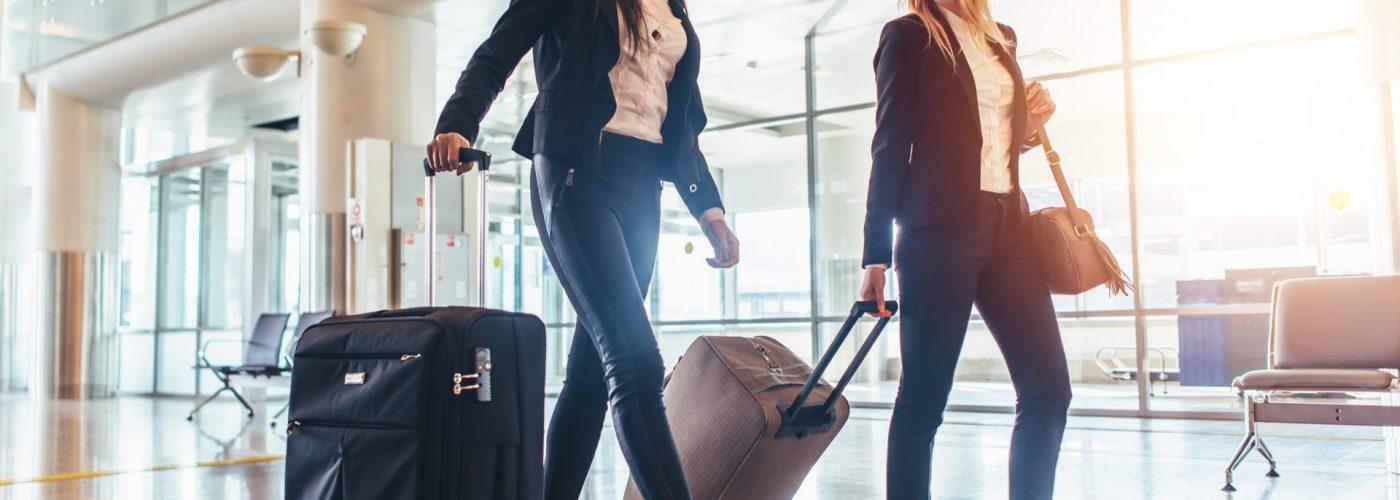 women at airport