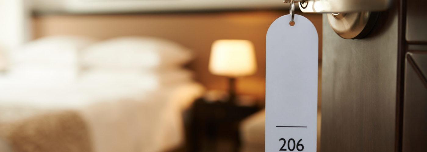 View of hotel room from door