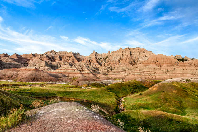 Badlands national park canyon valley views