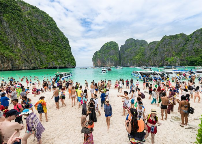 Maya Bay, Thailand in 2015