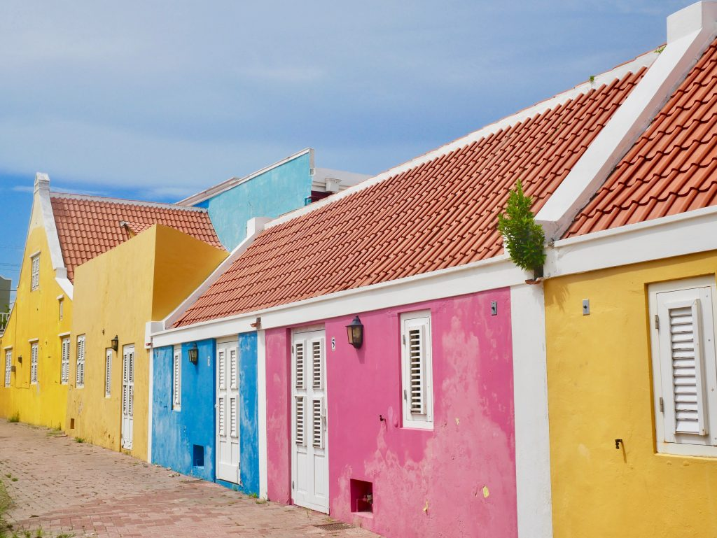 bright colored houses in curacao