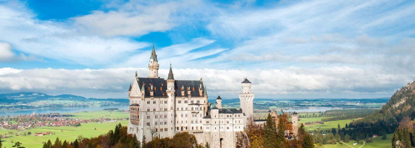 castle set upon a hill