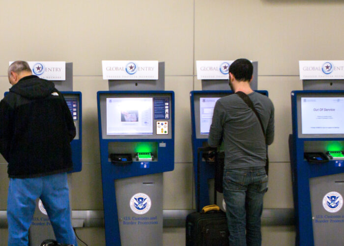 Global Entry and APC Kiosks, located at international airports