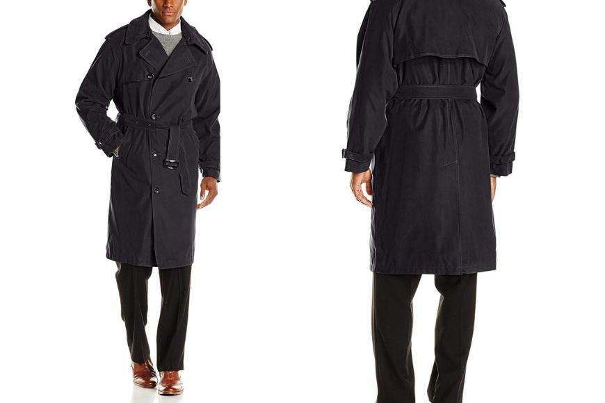 London fog men's iconic trench coat.
