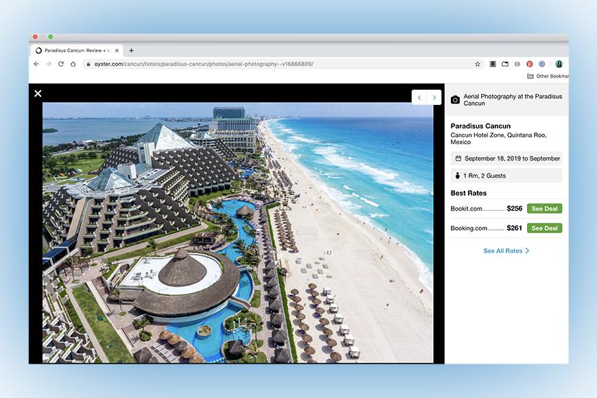 screenshot of oyster.com