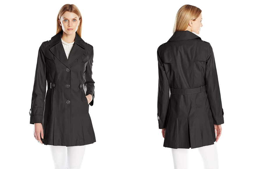 Via spiga women's single-breasted pleated trench coat.