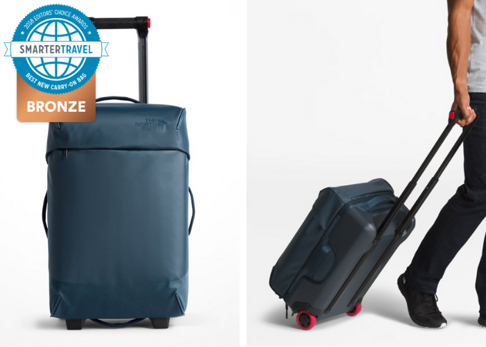 e8b77077f Gimmick-free and sleek, the 20-inch Stratoliner-M from North Face is a  minimalist carry-on dream. It trades four spinner wheels for two  unidirectional ...
