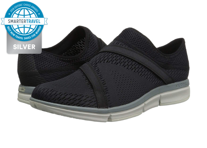 8ffe728c57 Merrell's Zoe Sojourn E-Mesh sneakers are the perfect shoe for flying—they  slip on and off easily, and won't look out of place once you get off the  plane.