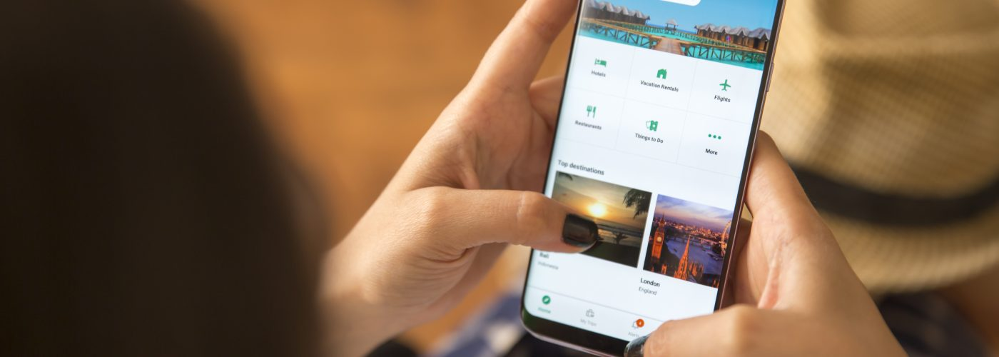 New TripAdvisor app on phone