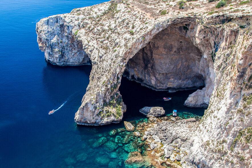 malta cliff seaside italy