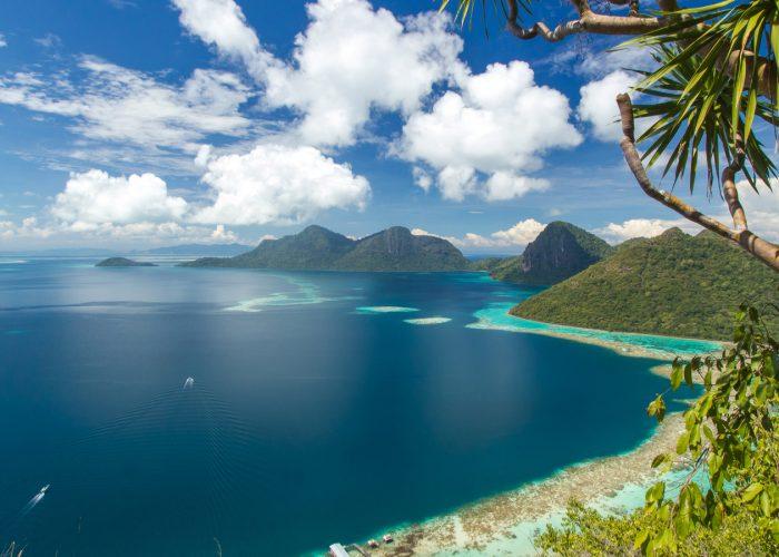 island and beaches in Borneo