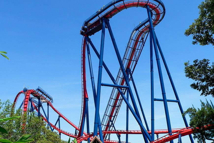 Sheikra Roller Coaster in Busch Gardens, Tampa Bay