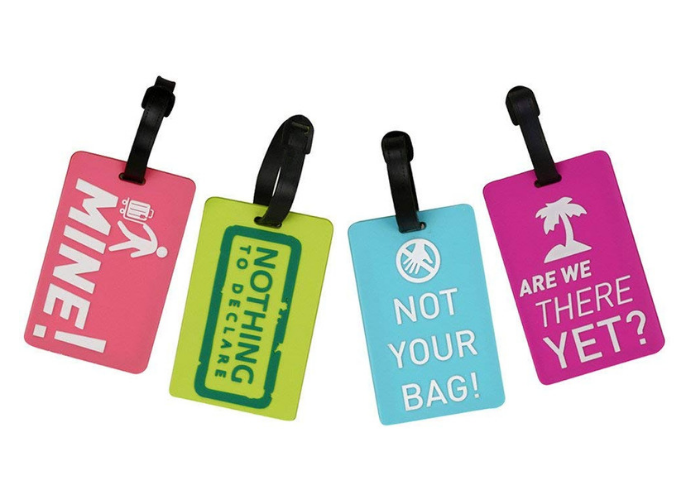Coolrunner four-piece suitcase luggage tags