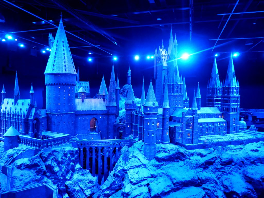 harry potter studio tour decorated with snow