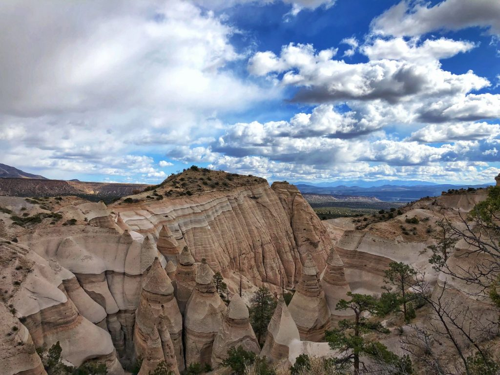 view of tent shaped rocks