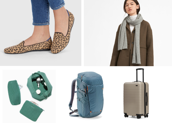 gifts to give yourself shoes scarf bag backpack rolling luggage