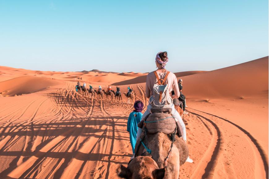 Camel Back Ride Sahara Desert Morocco