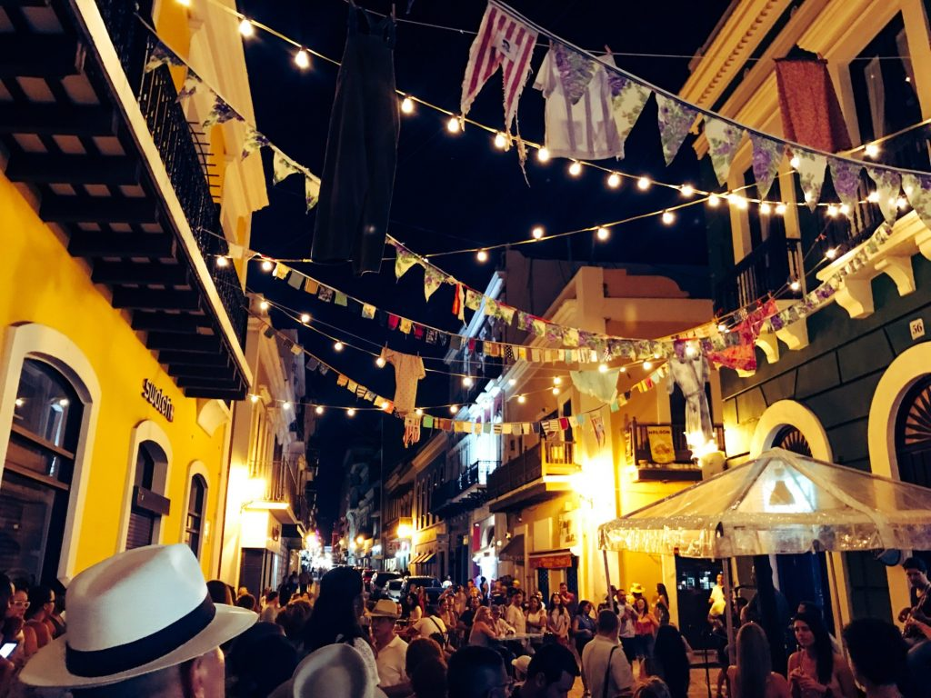 nightlife scene in old san juan