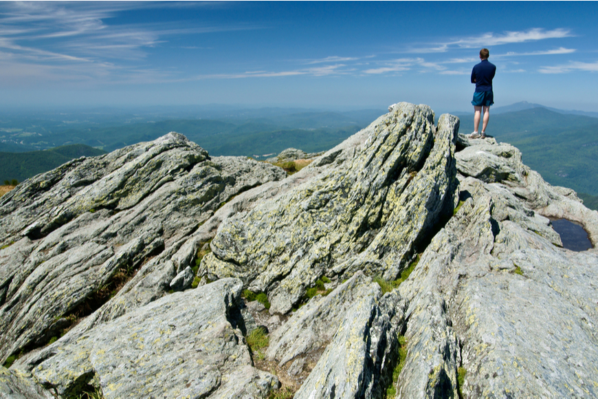 hiker on long trail vermont.