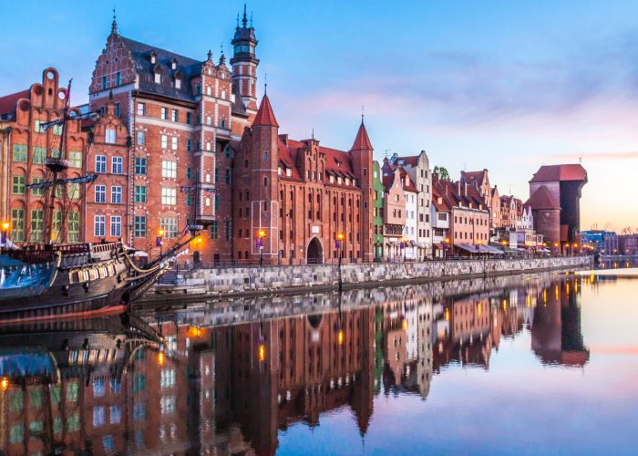 sunrise over Gdansk Poland