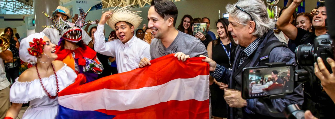 musical star Lin-Manuel Miranda arrives in Puerto Rico for role reprisal of Hamilton
