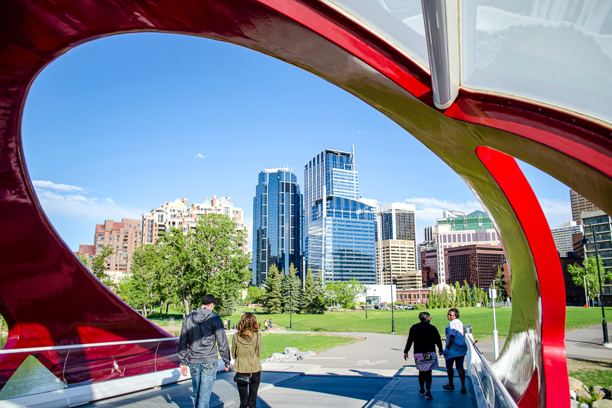 Peace Bridge in Calgary Alberta, Canada