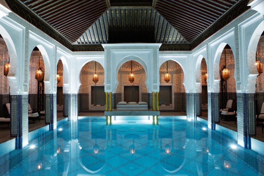 Famous hotel la mamounia pool