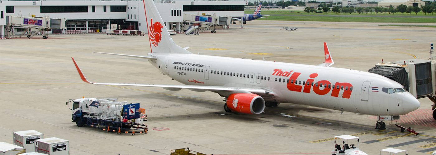 Lion Air plane on tarmac