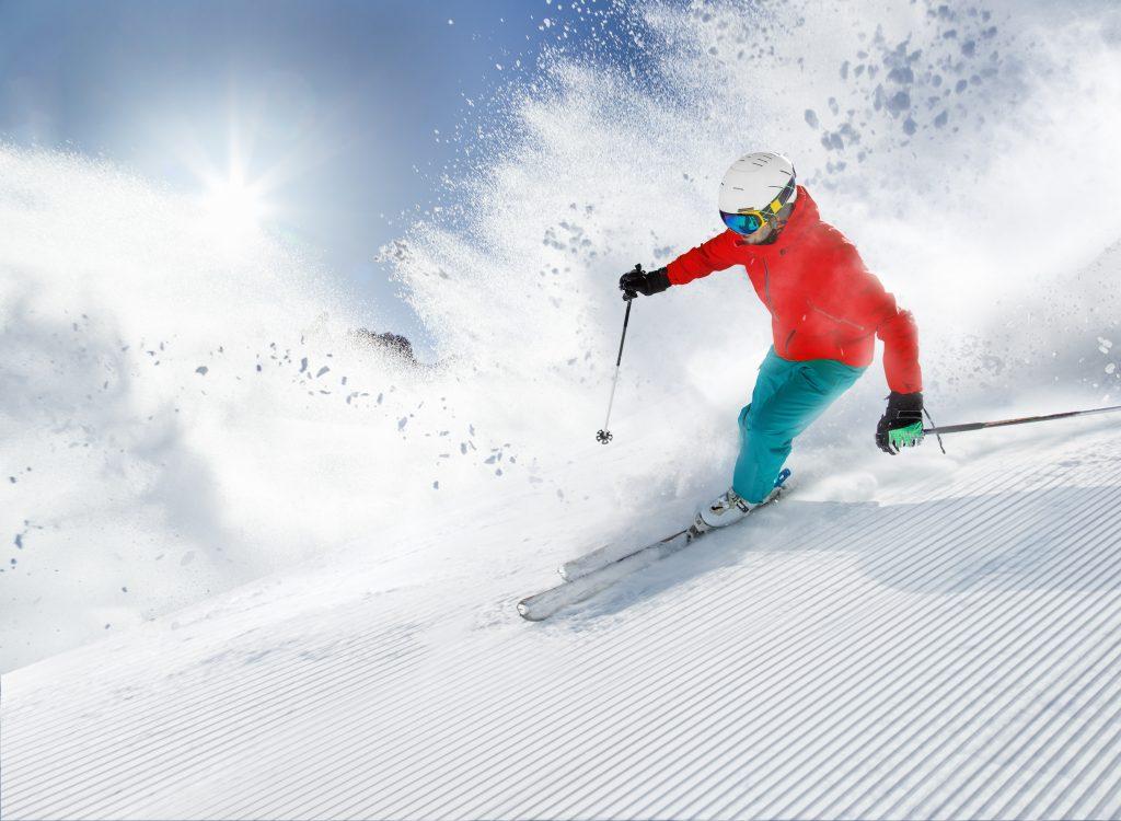 Mt. abram ski resort in maine, usa