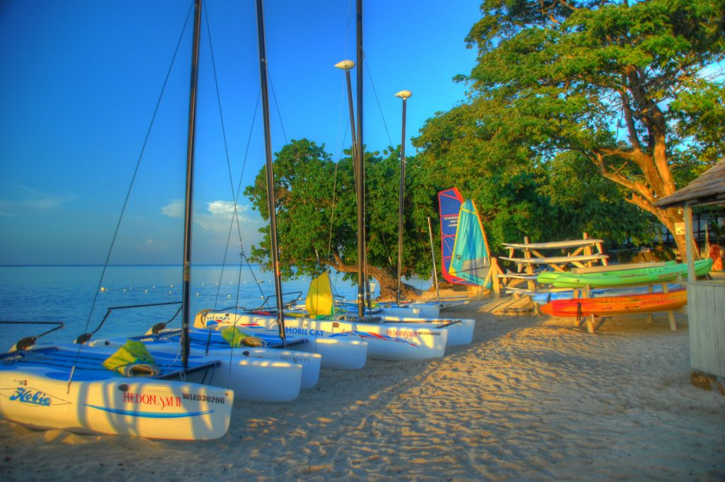 Negril jamaica tropical beach