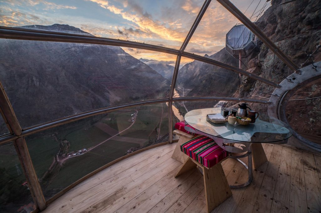 Skylodge adventure suites, a mountain hotel in peru's sacred valley
