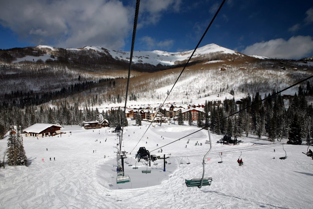 Solitude mountain ski resort in utah, usa