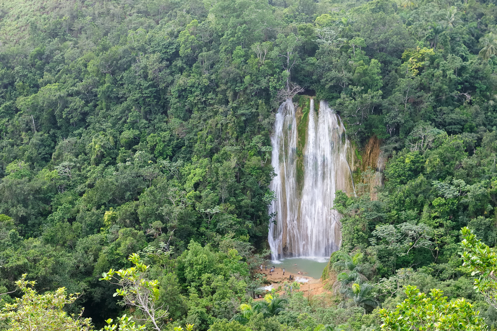 Waterfall in samana dr
