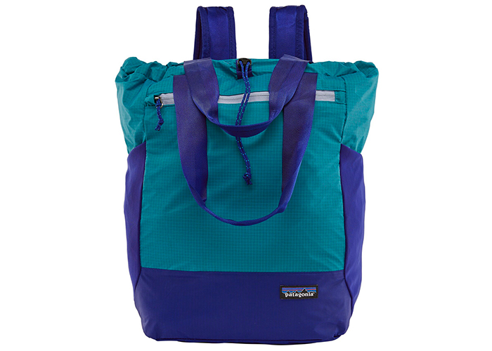 patagonia ultralight black hole tote bag.