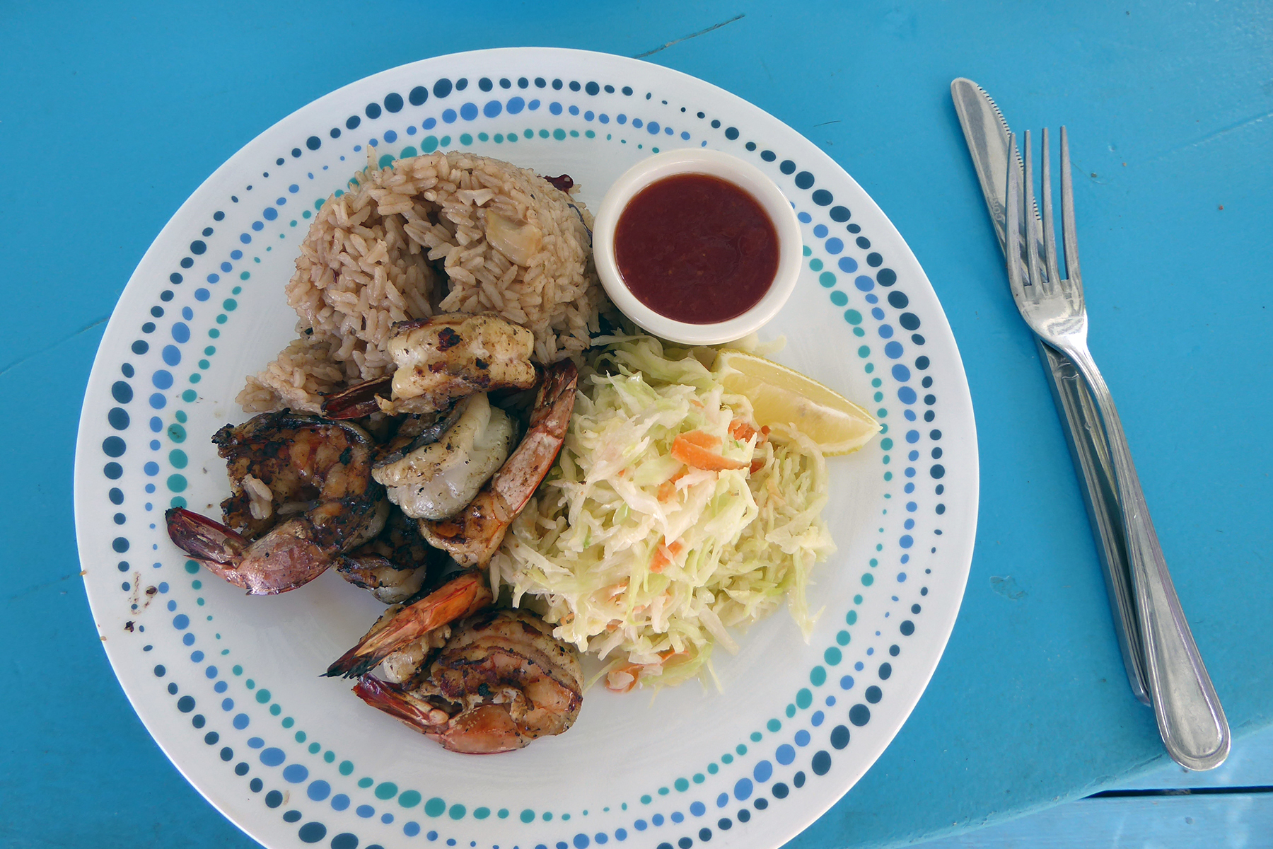 seafood meal in turks and caicos