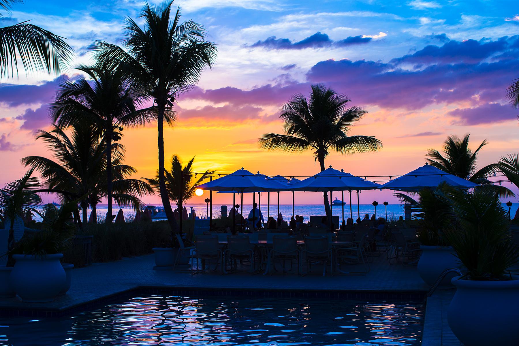 sunset on turks and caicos coast