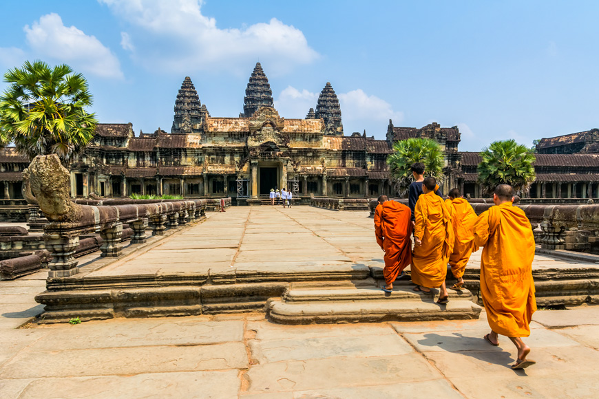 Angkor Wat is a temple complex in Cambodia
