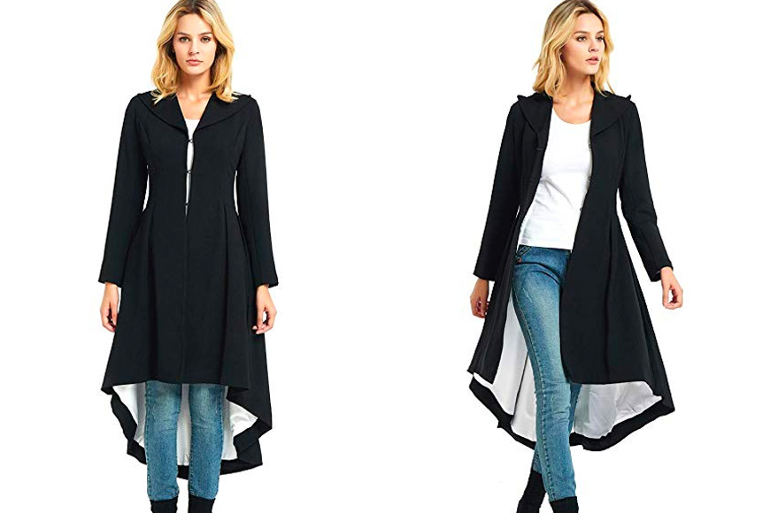 city in left's dovetail trench coat