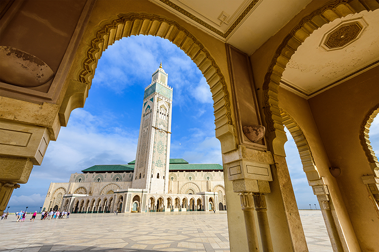 Casablanca, morocco, one of the cheapest places to fly in spring