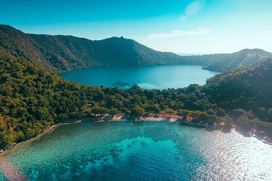 Satonda Island in Sumbawa, Indonesia