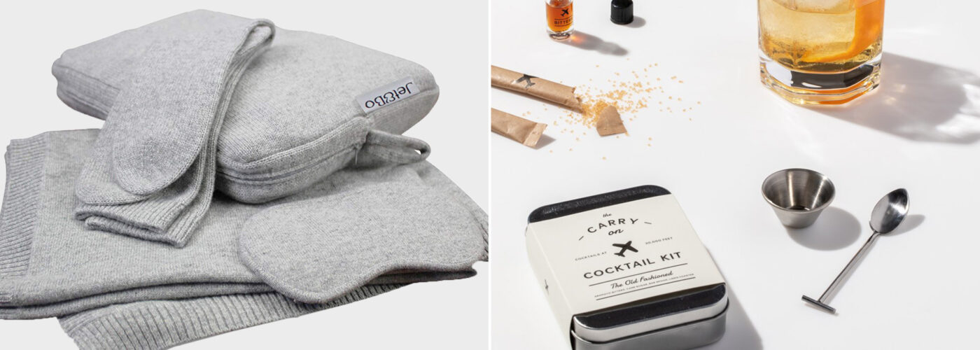 et&Bo 100% Pure Cashmere Travel Set: \ The Old Fashionedcocktail kit