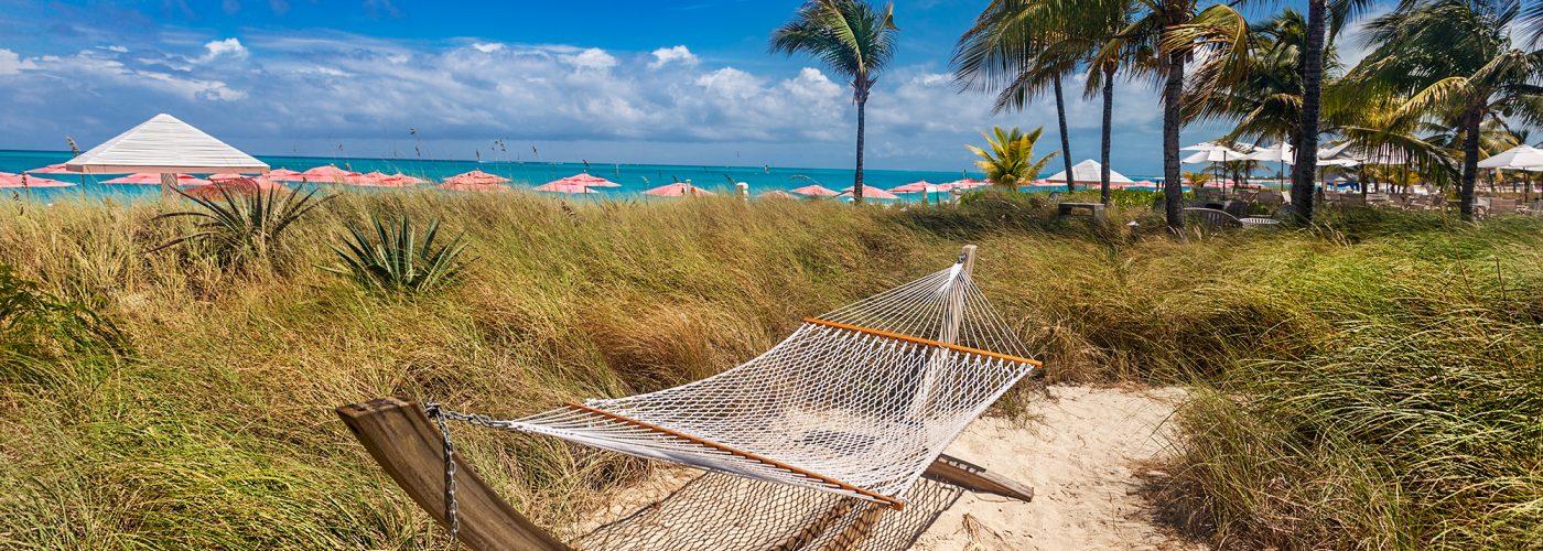 hammock on beach turks and caicos