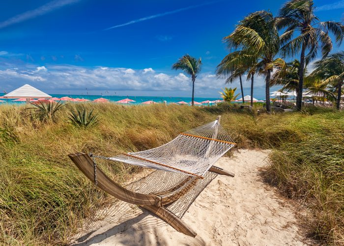 hammock on beach turks and caicos