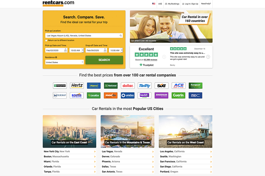 rentcars screenshot.