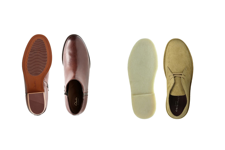 Clarks desert boots and maypearl ramie