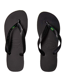 Black mens flip flops