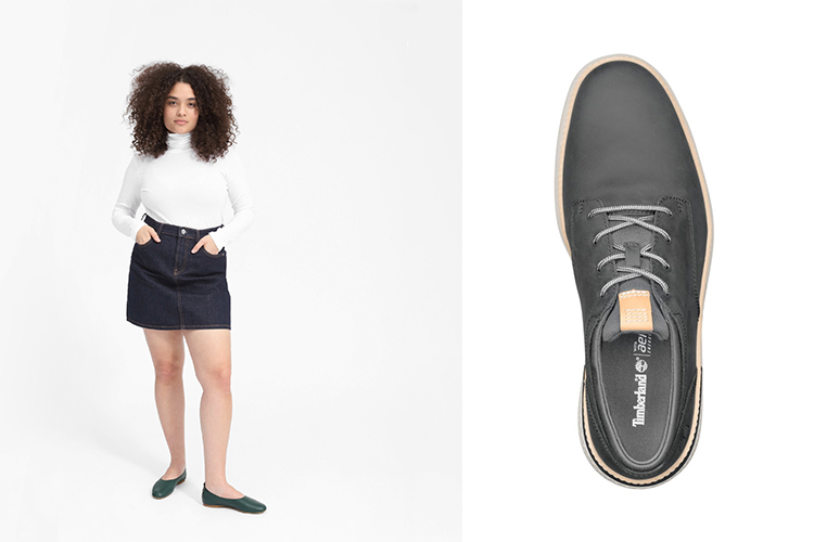 Everlane day glove flat and timberland cross mark oxford leather sneaker