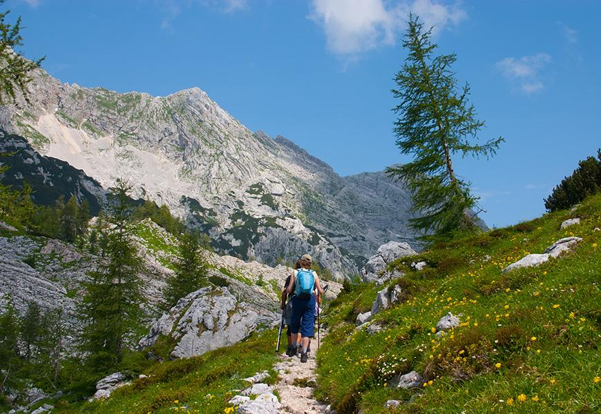 hikers in julian alps