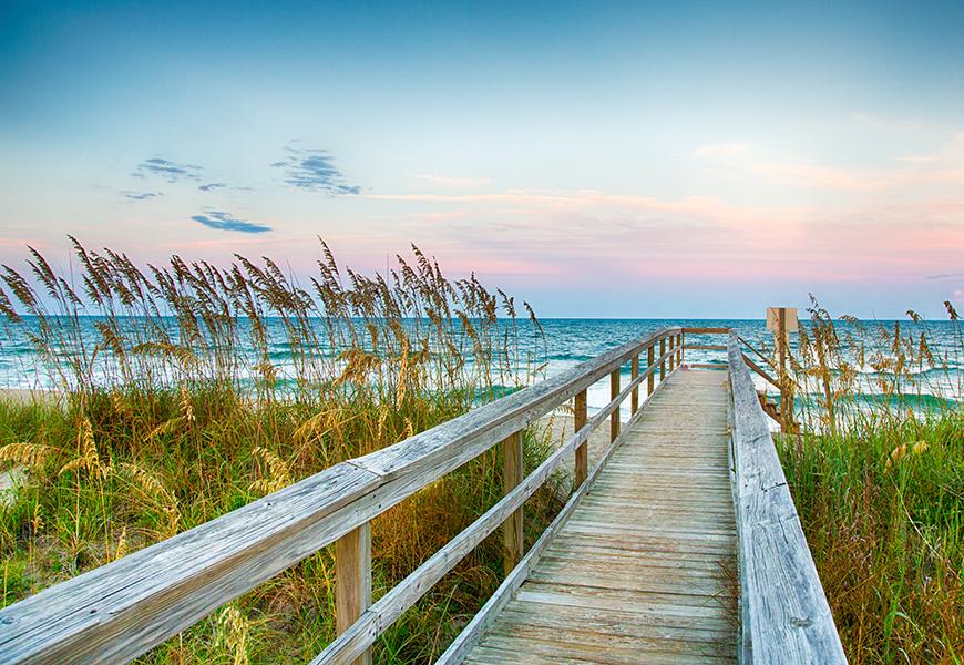 boardwalk onto kure beach